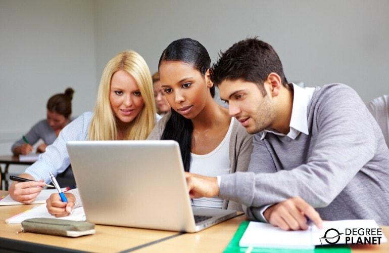 undergraduate students in university classroom