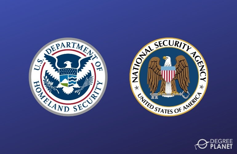 logos of National Security Agency and Department of Homeland Security