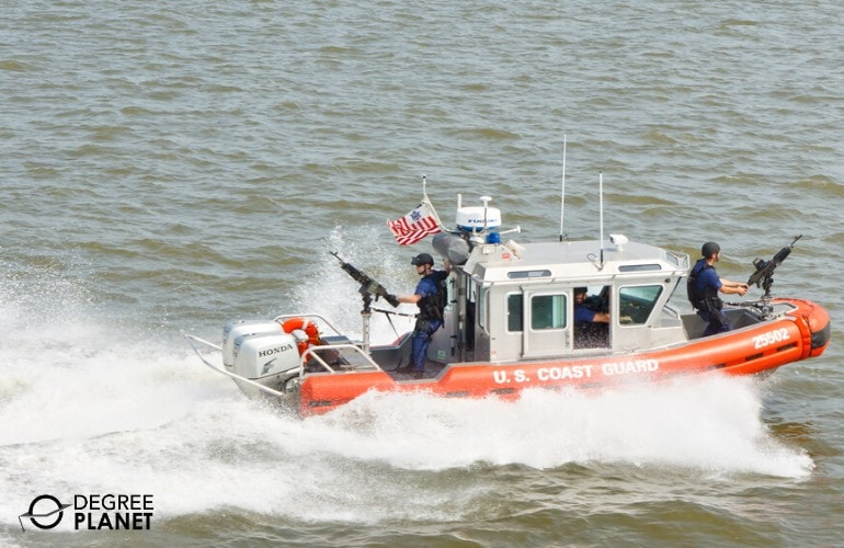 U.S. Coast Guard on patrol