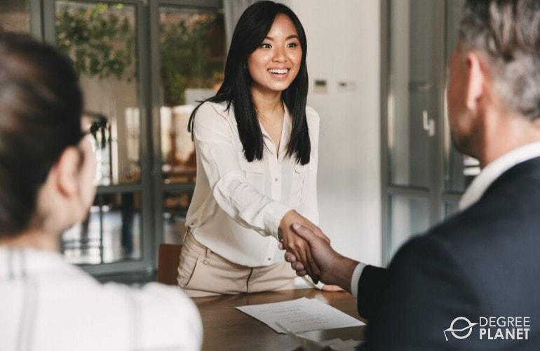 Multidisciplinary Studies Degree graduate in a job interview