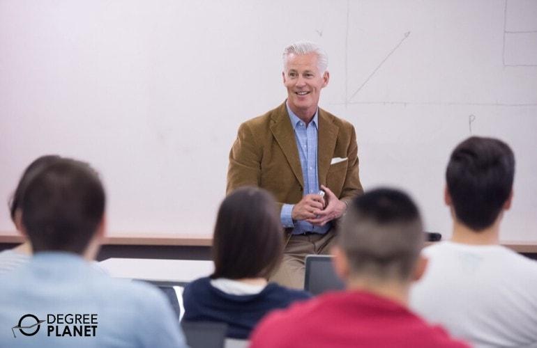 general studies professor teaching in a university
