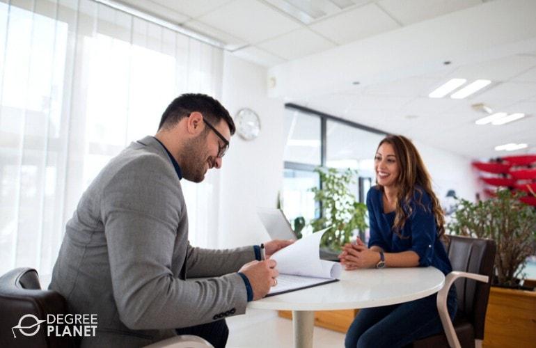 web developer in a job interview