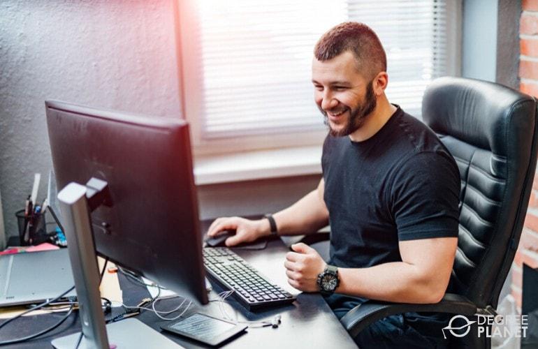 software developer working at home