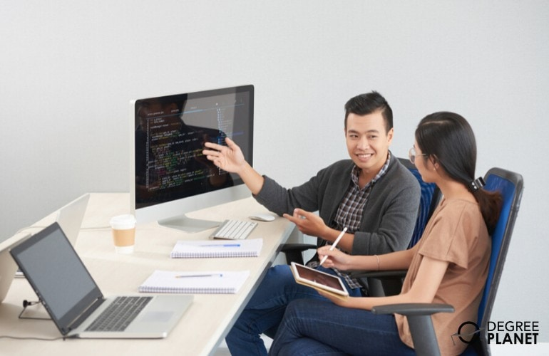 Software Developers working in the office