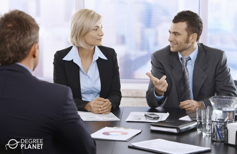 Accountants having a meeting