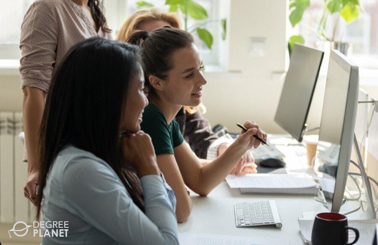 software developers working together