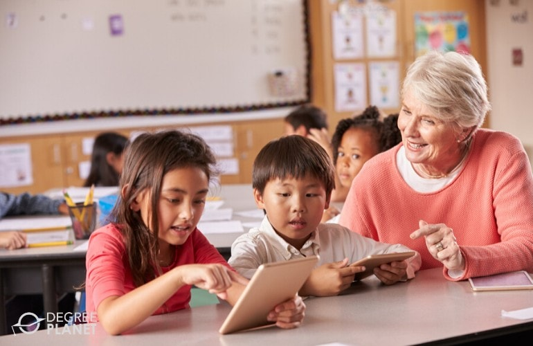 specialized classroom educator teaching young students