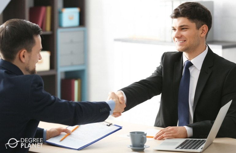 Human Resources Manager interviewing a job applicant