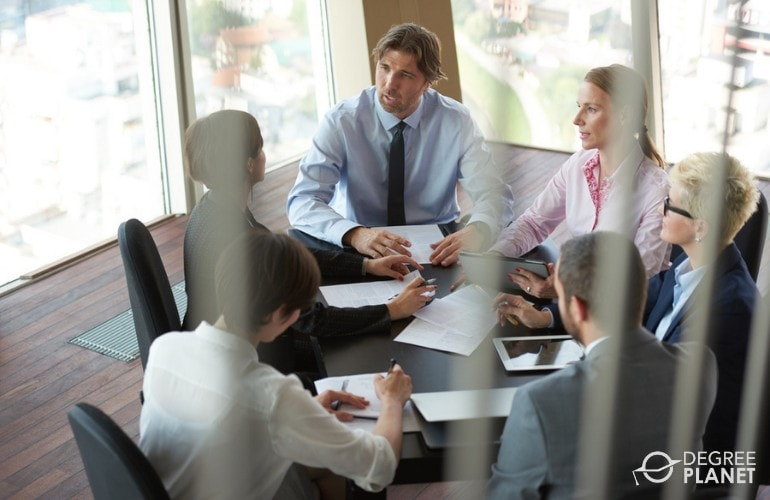 Top Executives in a meeting