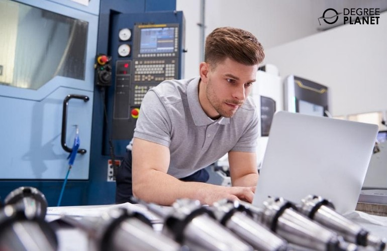 Hardware Engineer working in a facility