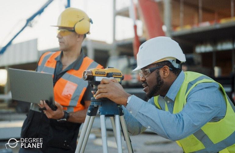 Civil Engineer and Surveyor working