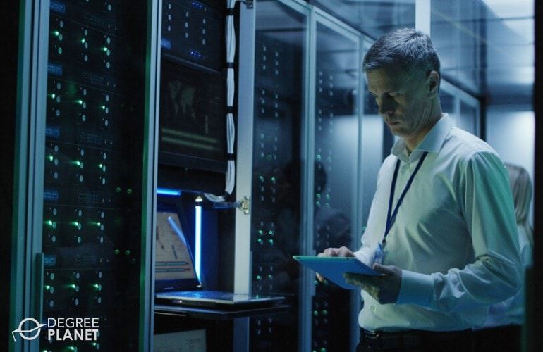 Computer and Information Systems Manager working in data center