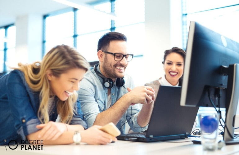 Software Developers enjoying their work