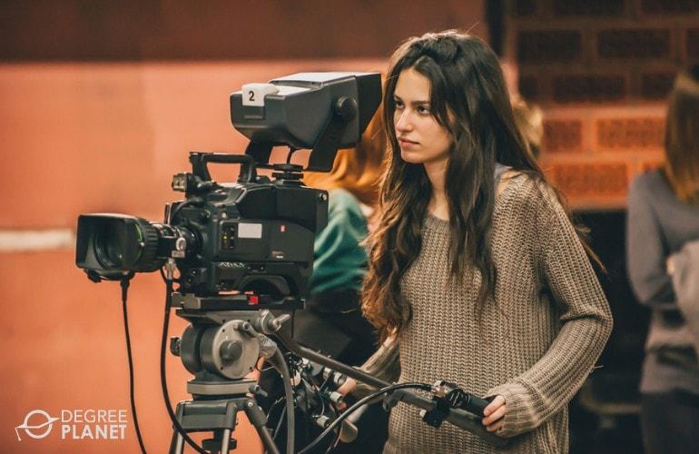 filmmaker working in a studio