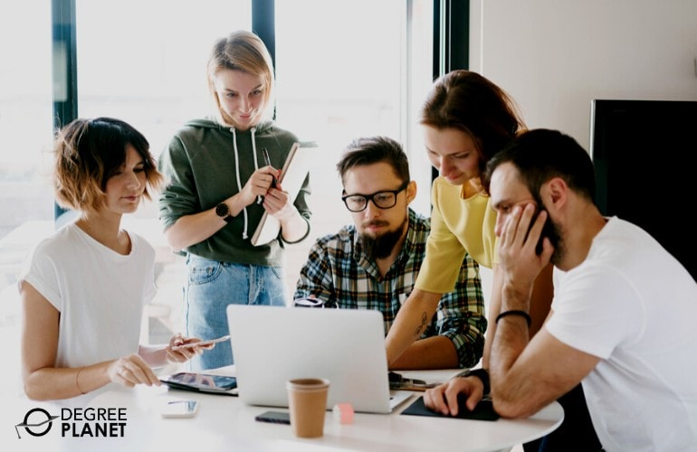 Advertising team in a meeting