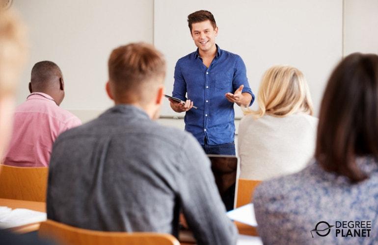 Teacher Assistant teaching in a university