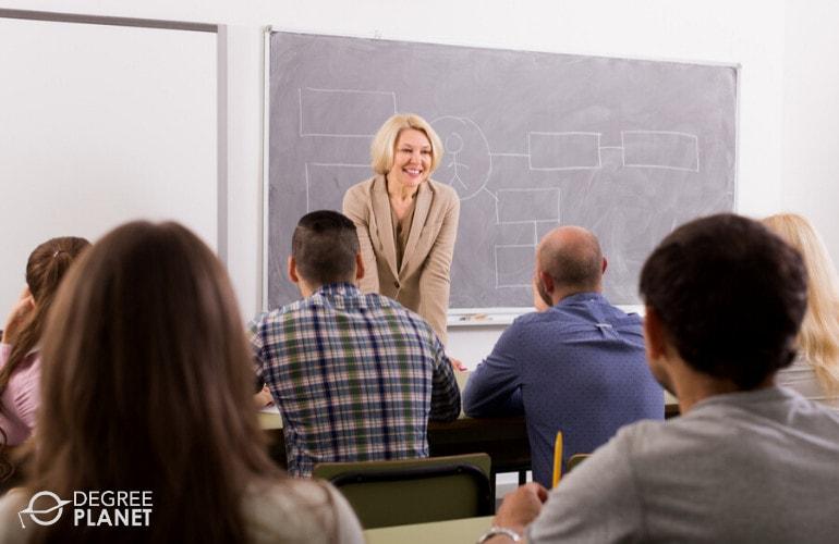 Social Science Professor teaching in a university