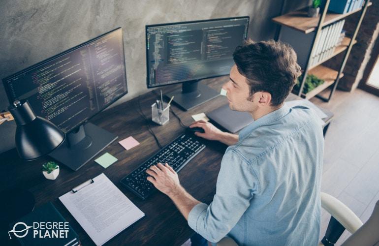 Software developer working