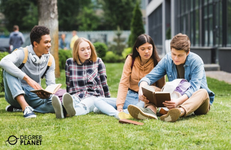 Associate Degree students in university campus
