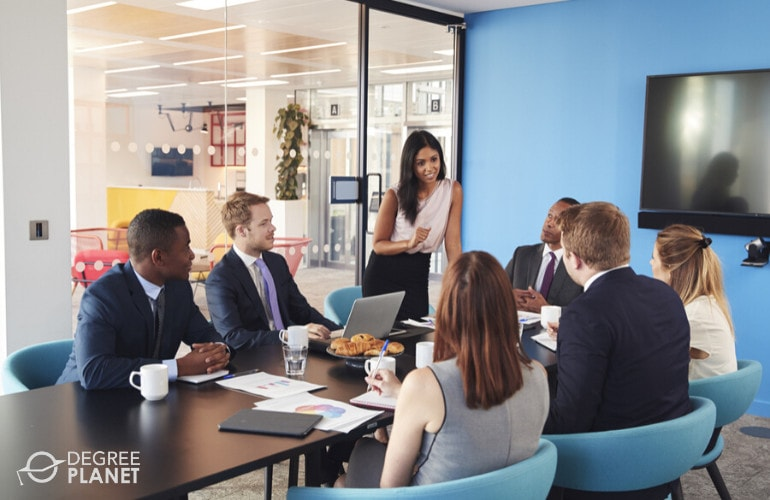 managers in a meeting