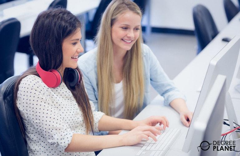 Associates Degree attending computer class