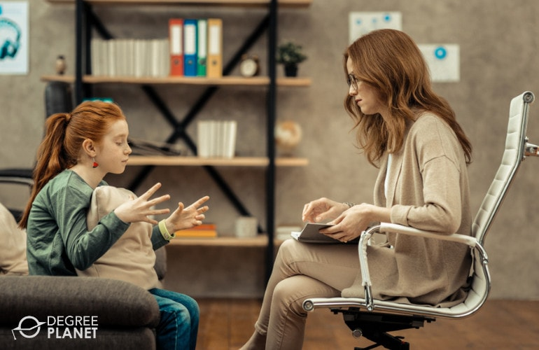 Behavioral Psychologist with a child