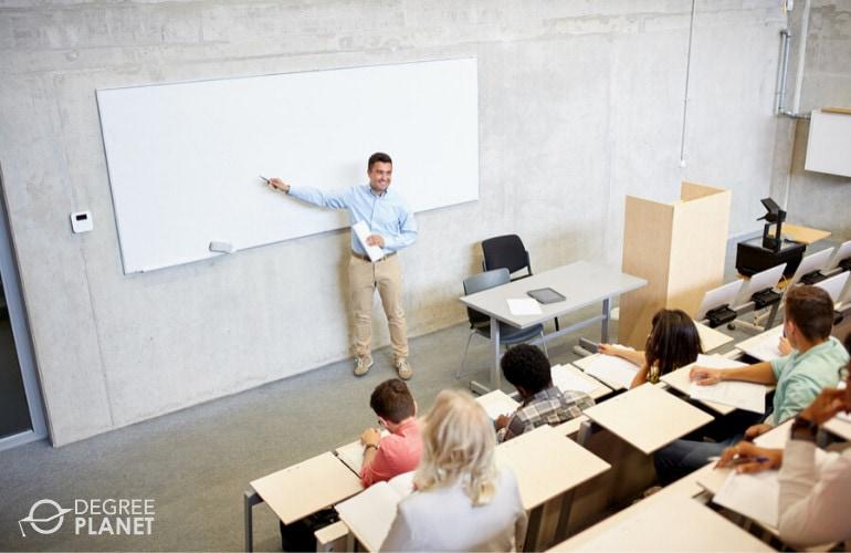 Postsecondary Teacher teaching in a university