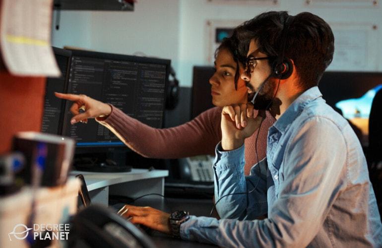 Software Developer working together