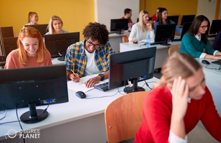 Information Systems students in university