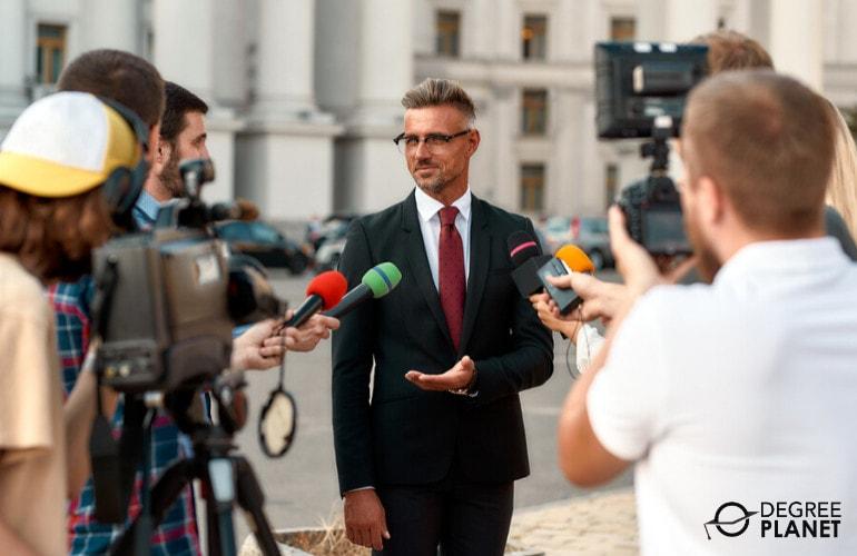 political scientist in interview