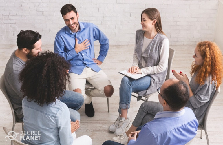 Mental Health Counselors in meeting