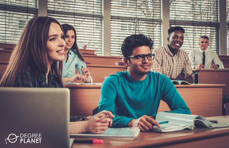 English major students attending university
