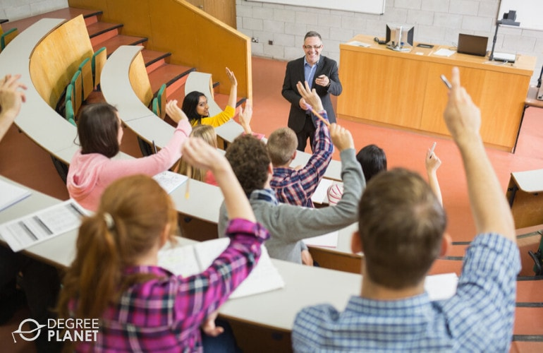English Professor teaching in university