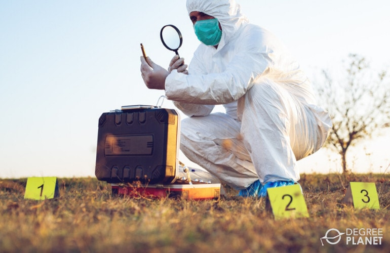 Forensic Technician investigating
