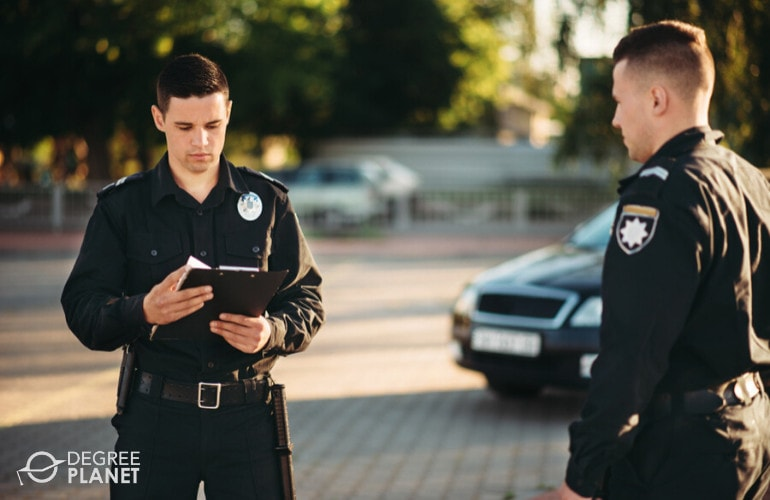 law enforcers at work