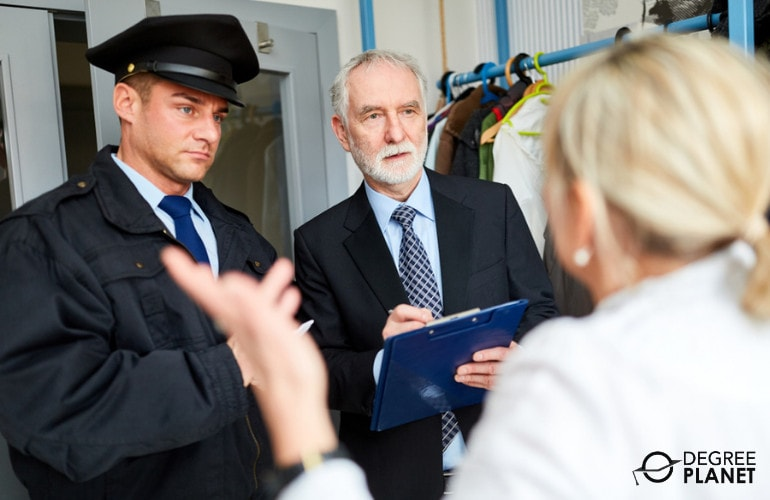 police detectives interviewing someone